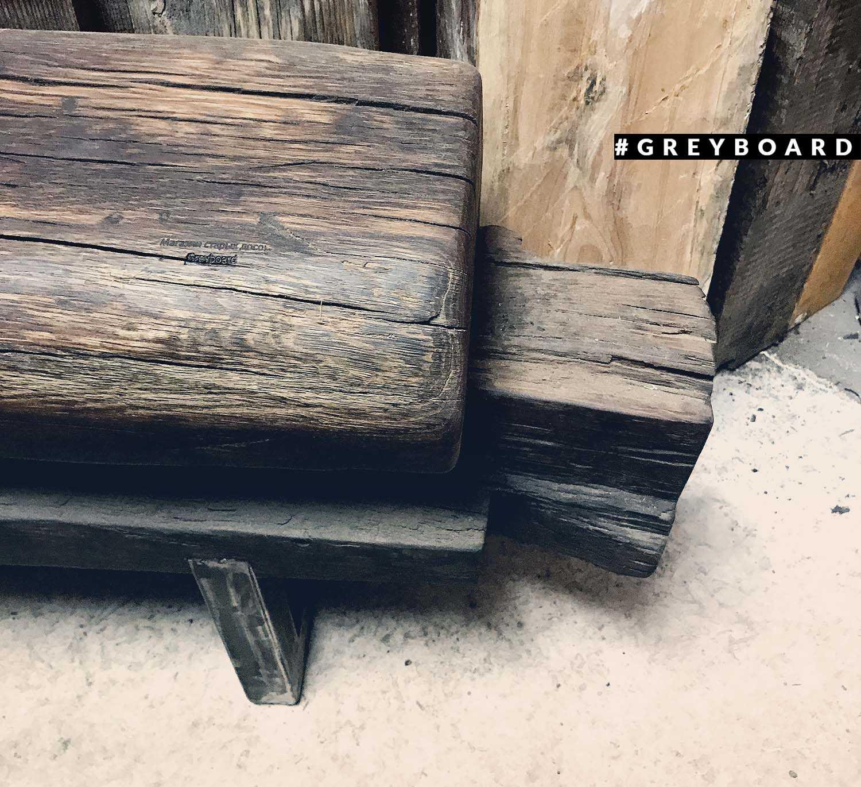 Балка-лавка из старой дубовой балки