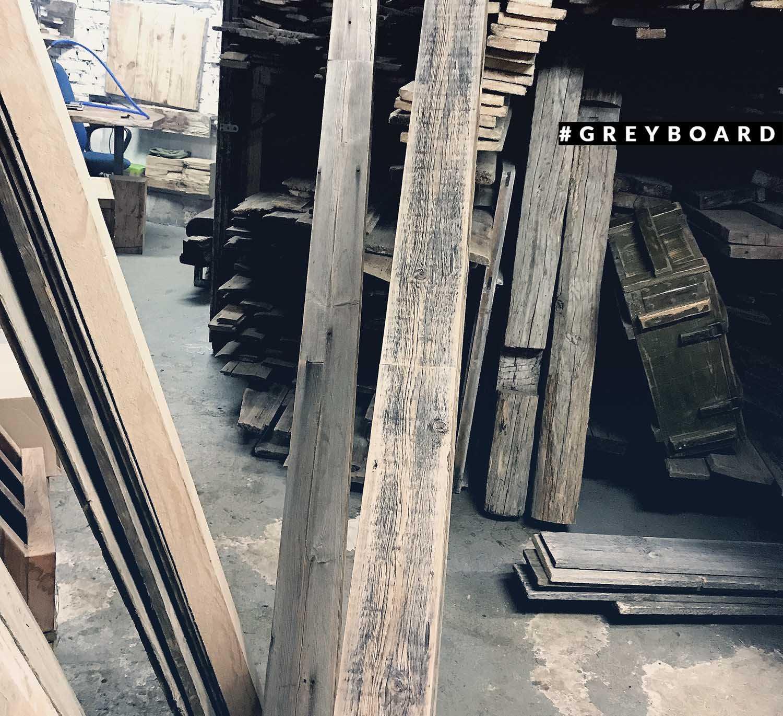 Фальшбалка из амбарной доски из Ярославской области