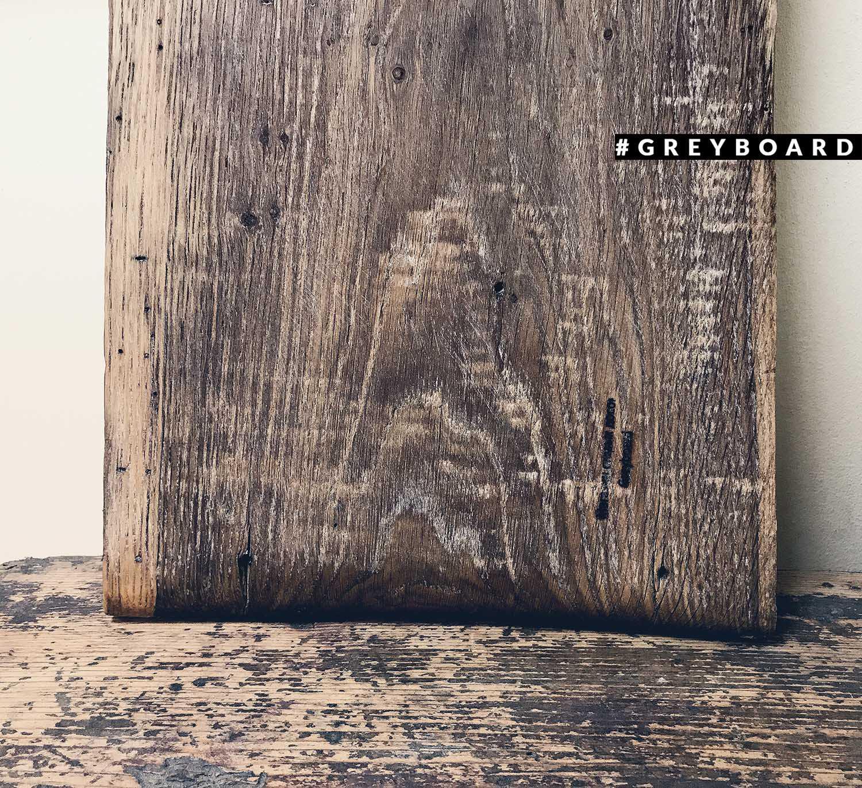 Разделочная доска из амбарной дубовой доски уличного хранения