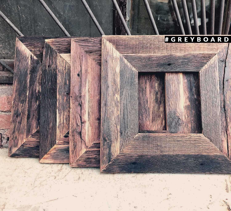 Рамка из старой дубовой доски уличного хранения