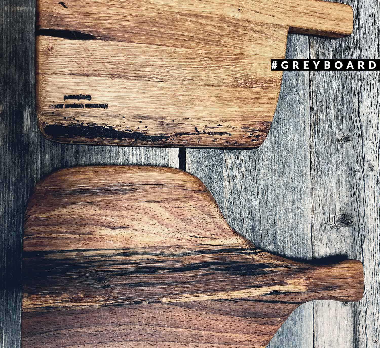 Разделочная доска из амбарной доски красивого оттенка