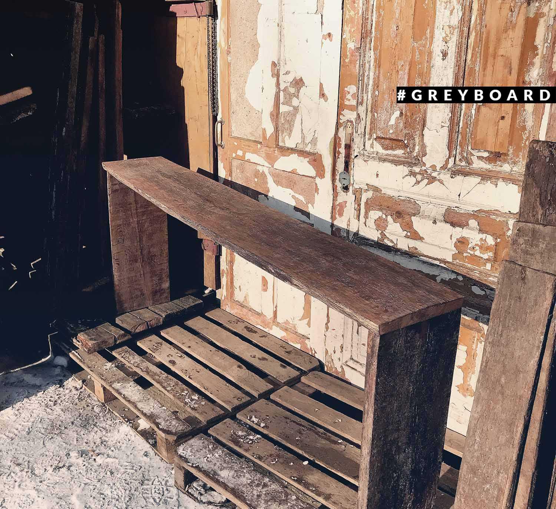 Консоль из древесины старого дуба
