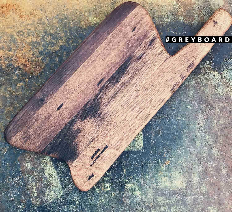 Разделочная доска из вековой амбарной доски
