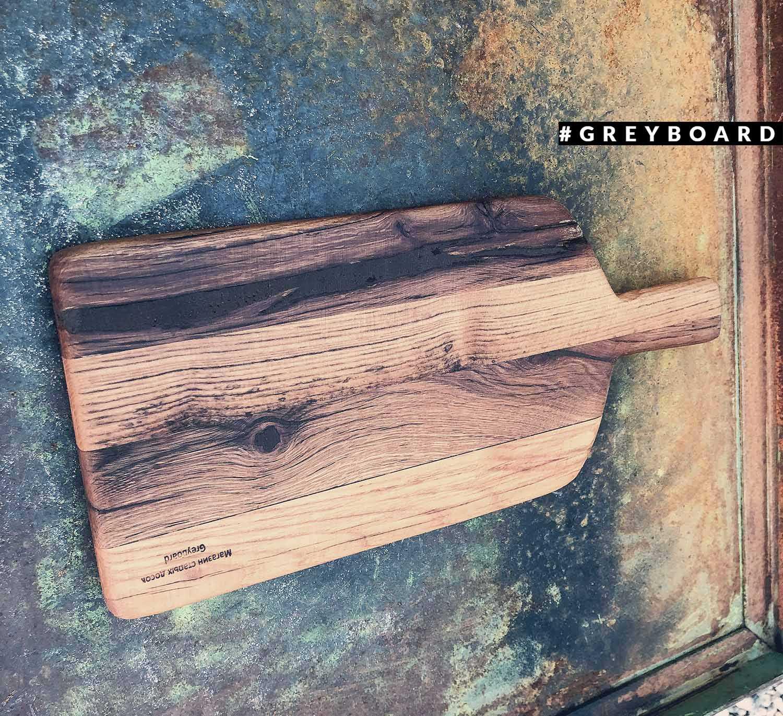 Разделочная доска из старой амбарной доски