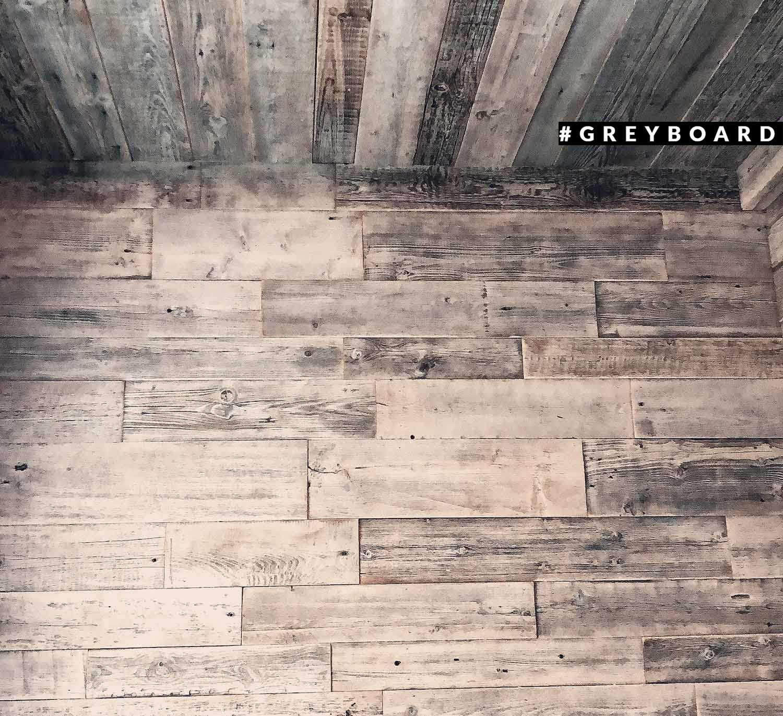 Панно из серебристо-серых старых досок