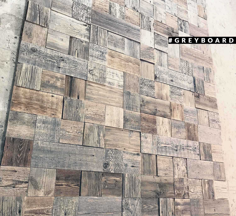 Панно-мозаика в стиле лофт из амбарной доски