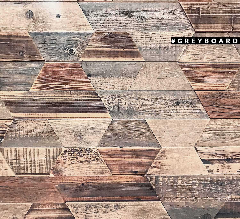Декоративное панно-мозаика из старой доски