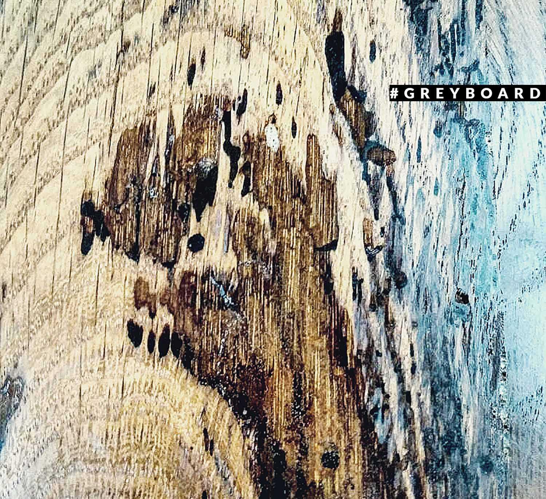 Столешница из амбарной доски с замысловатым рисунком поверхности