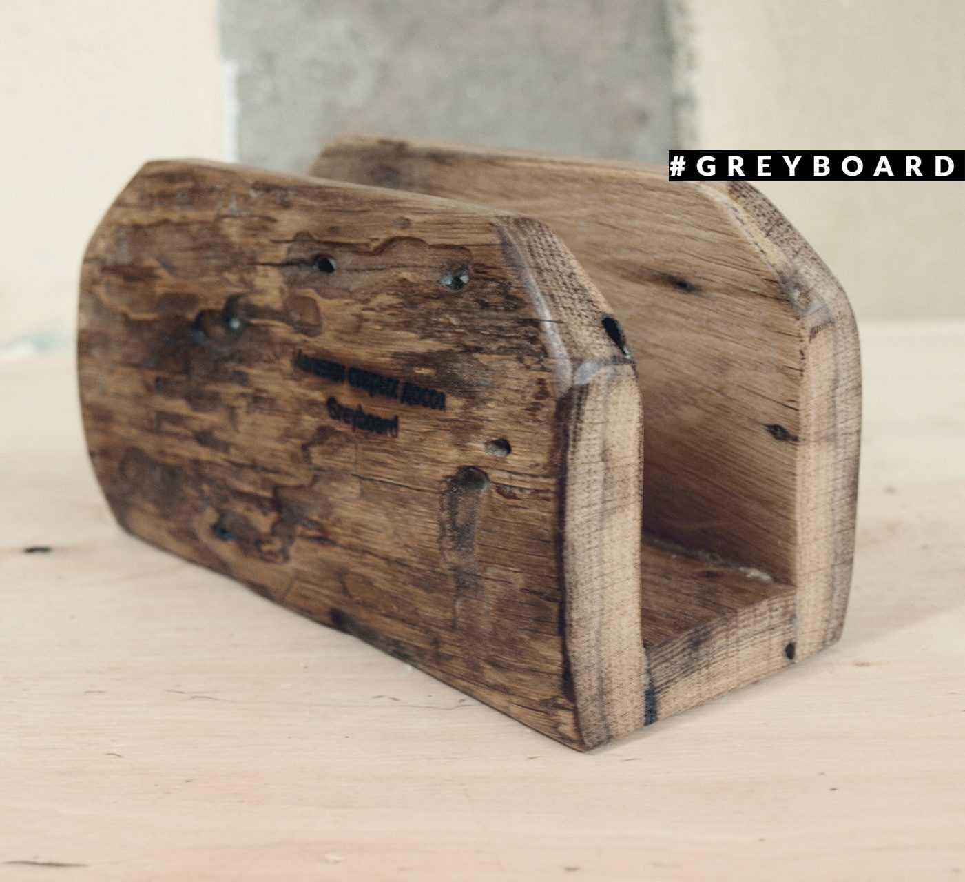 Салфетница из старой дубовой доски