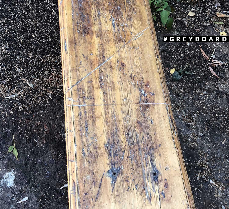 Лавка из старой сосновой доски