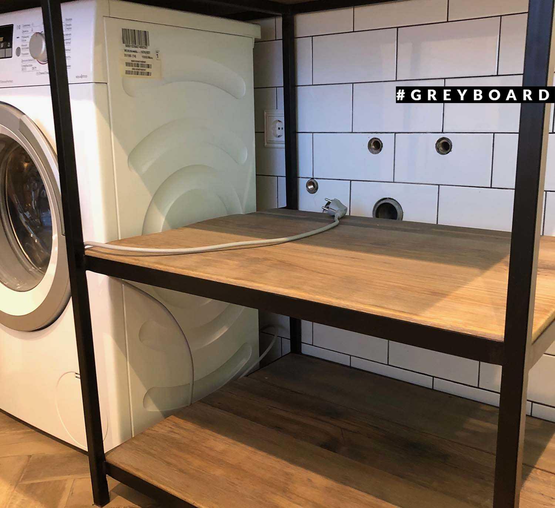 Консоль в ванную из старой дубовой доски