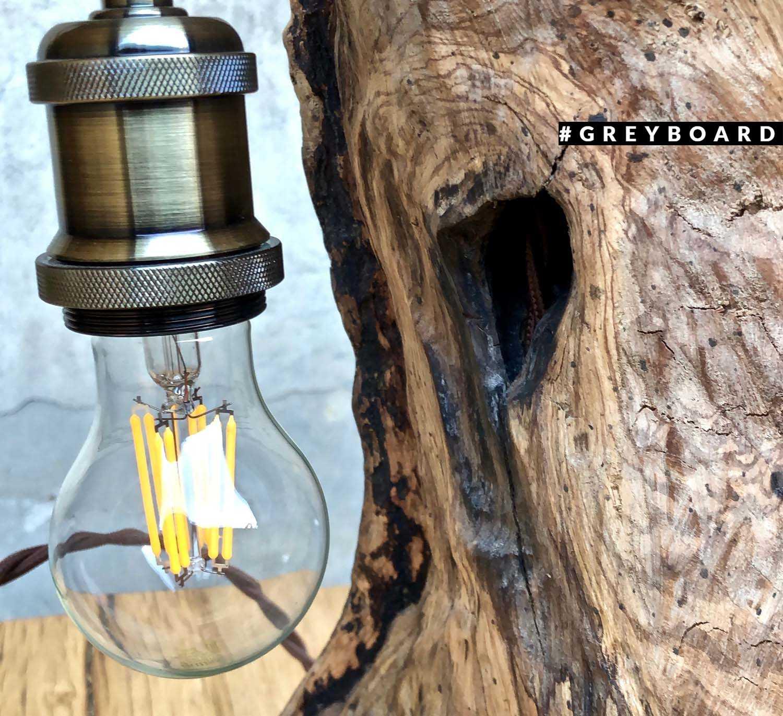 Светильник из пня старого ясеня
