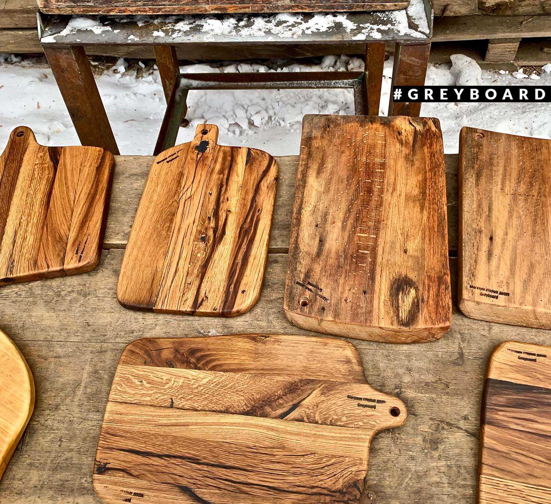 Разнообразные разделочные доски из старого дуба