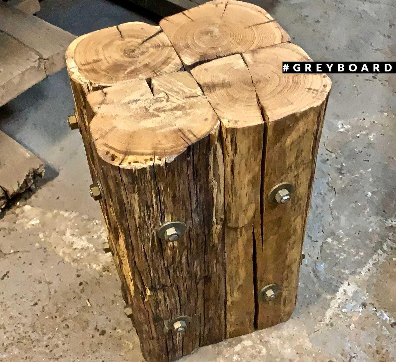 Пень-табурет из старого дуба