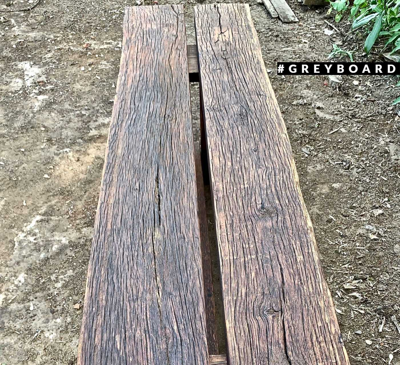 Стильная лавка из старого дуба