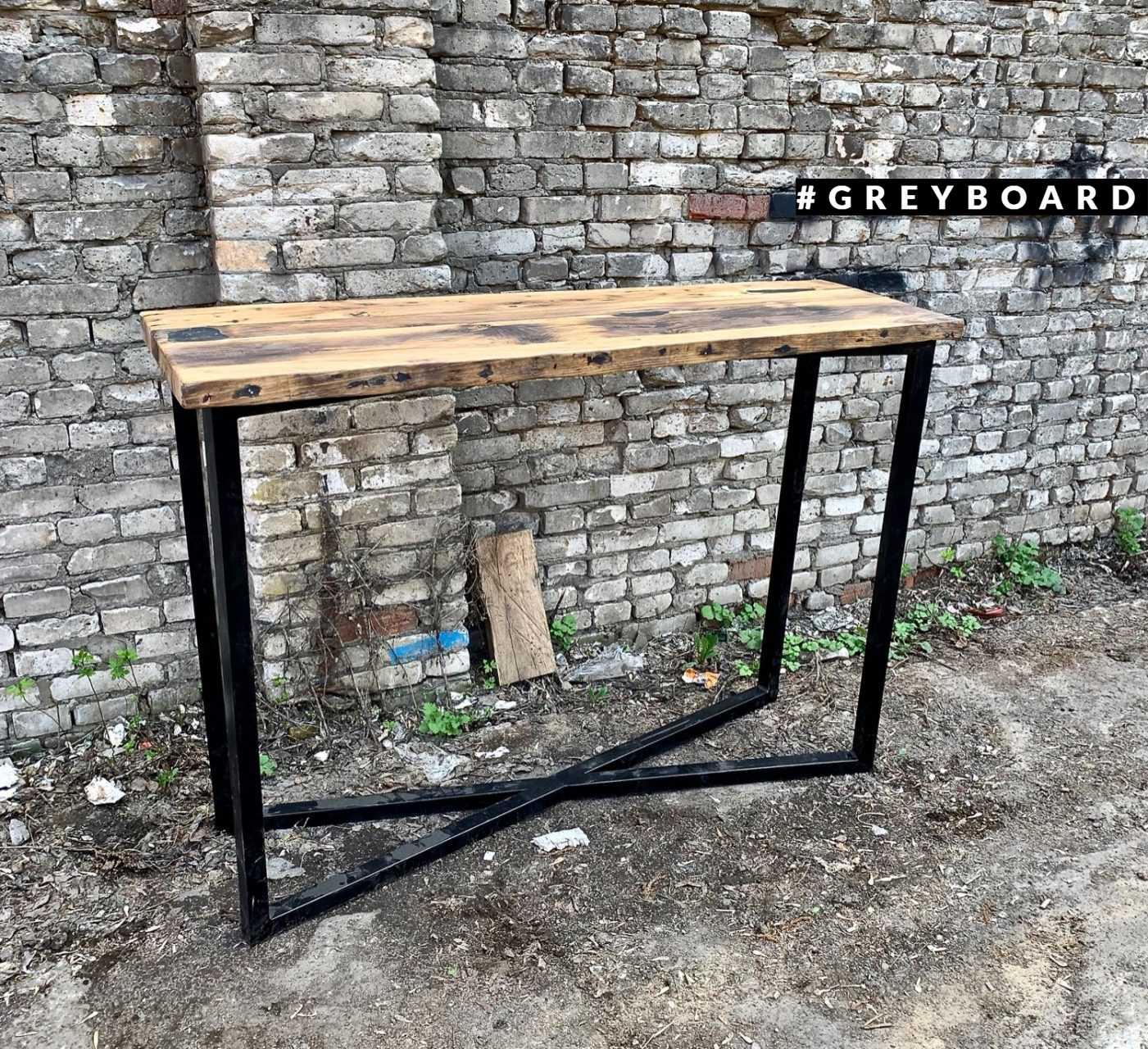 Отдельно стоящий барный стол из старого дуба