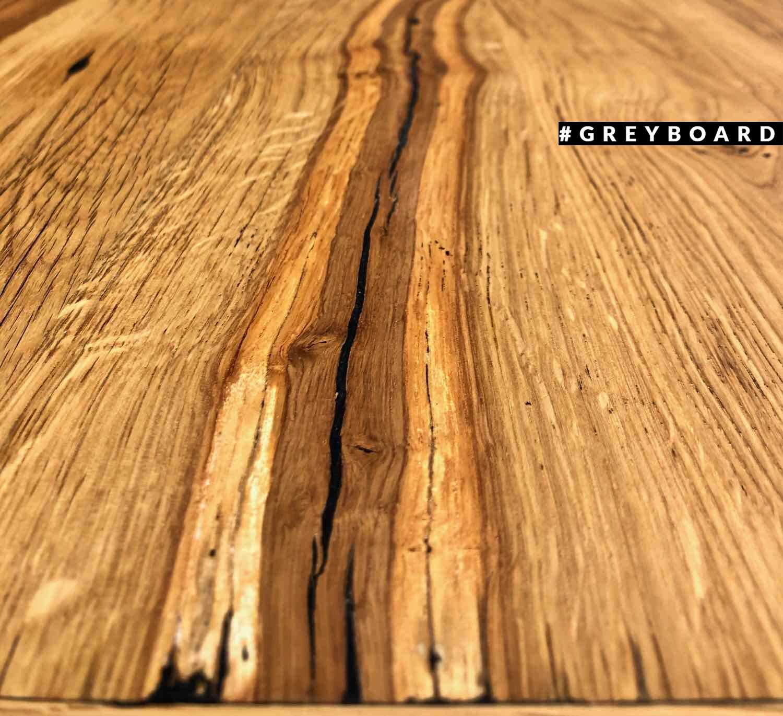 Столешница в обкладе из натурального старого дуба