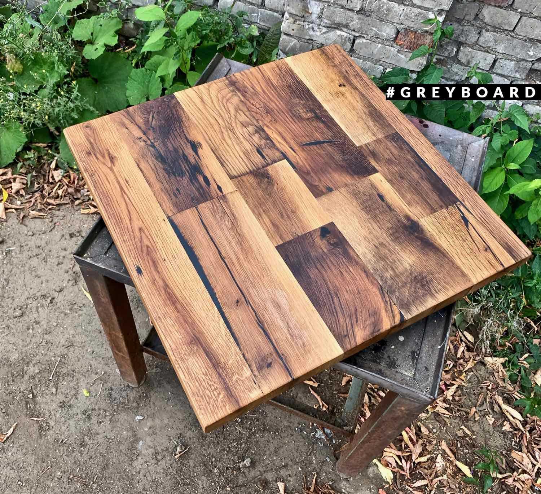 Оригинальная дубовая столешница из старой доски
