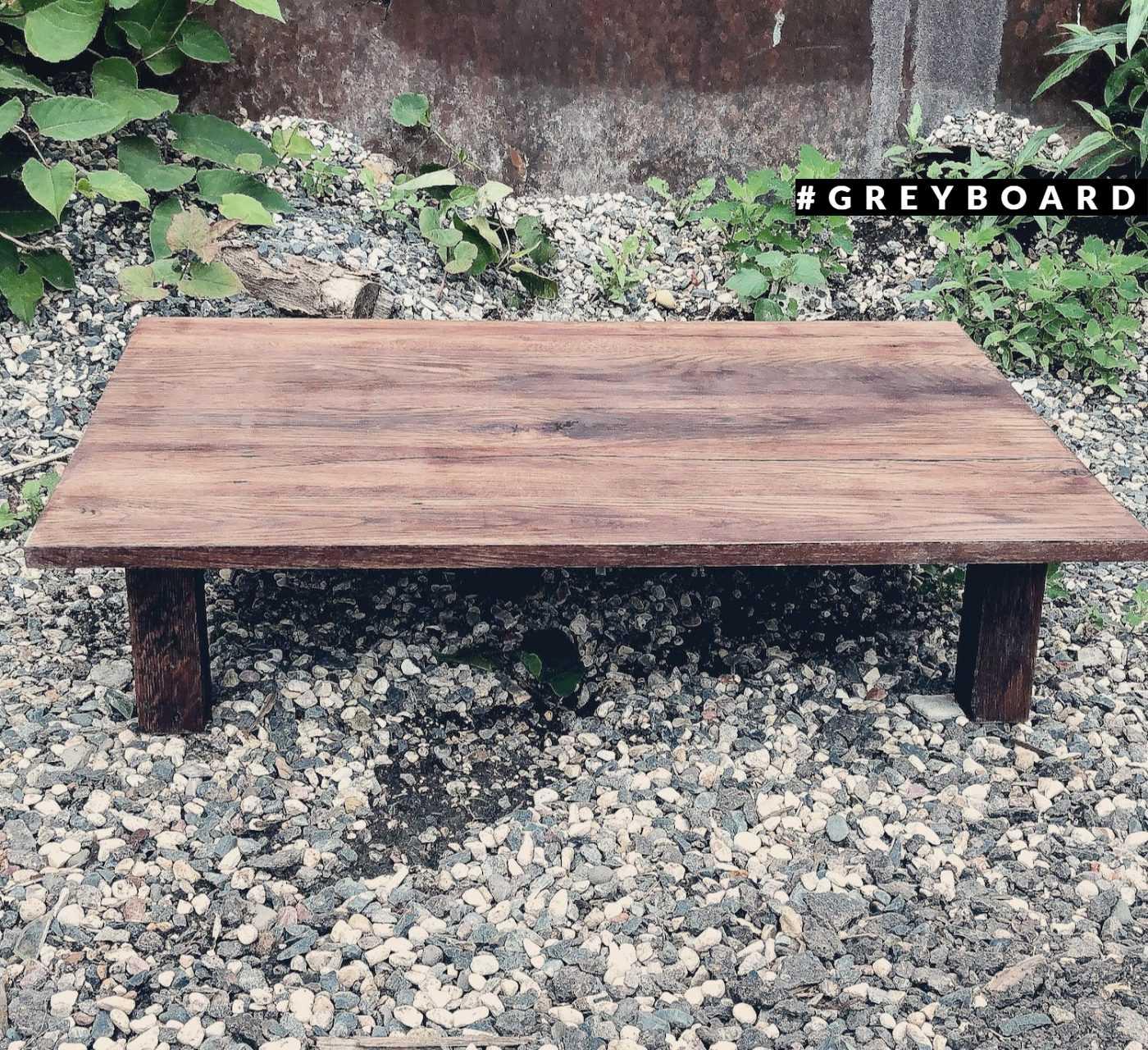 Японский столик из старой дубовой доски