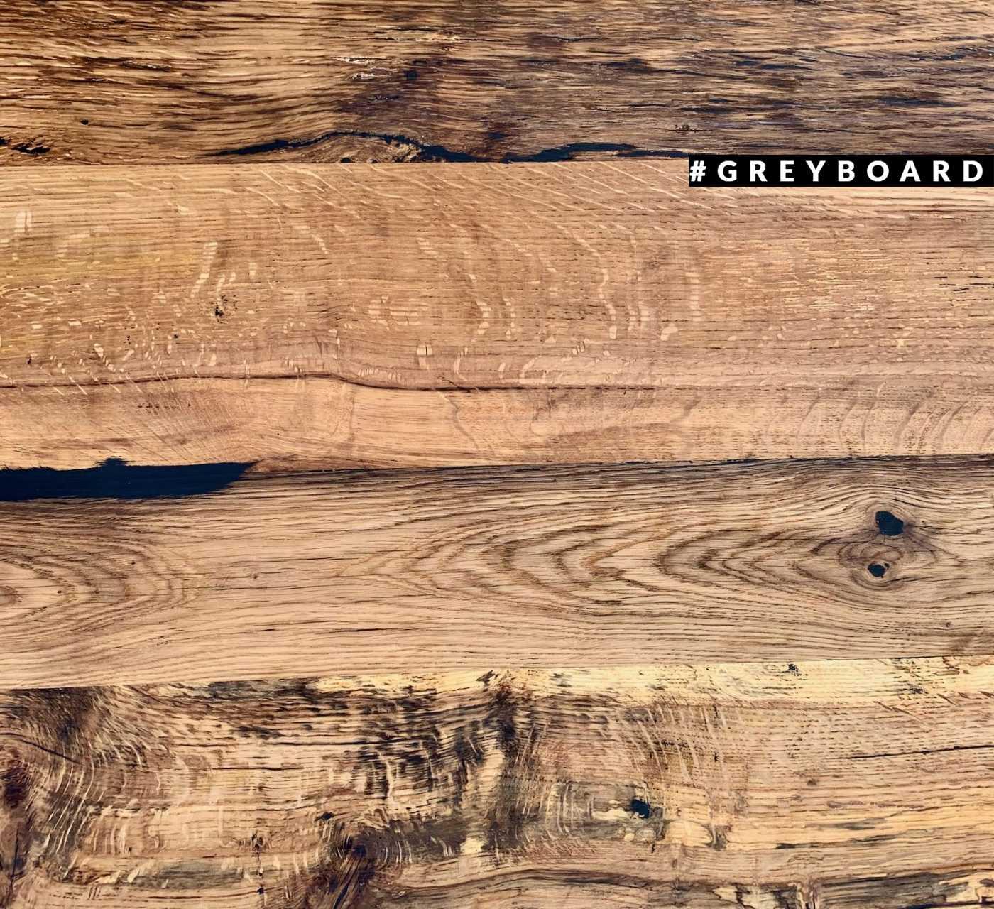Столешница из старой буковой и дубовой доски
