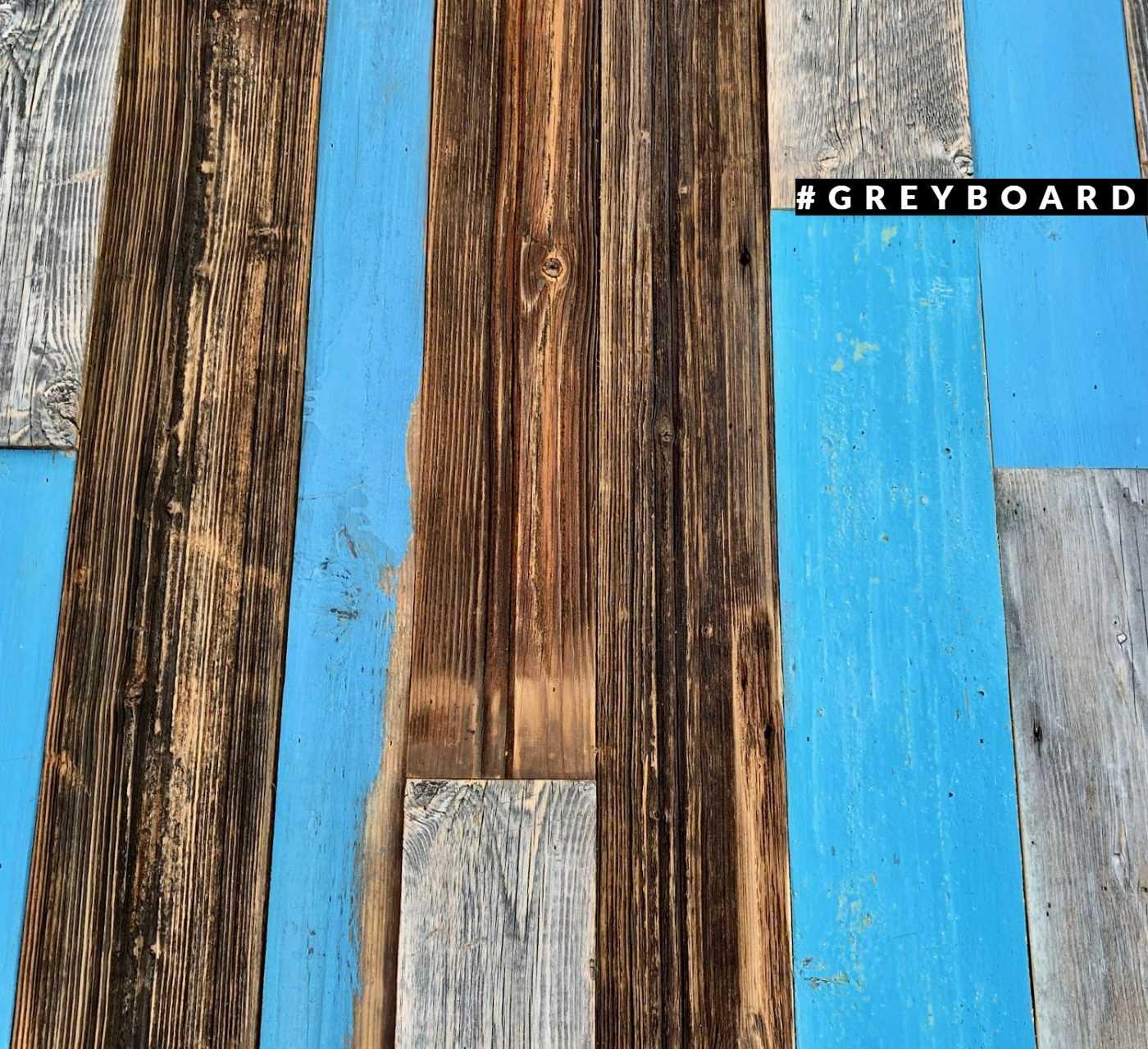 Панноиз голубой и коричневой старой доски