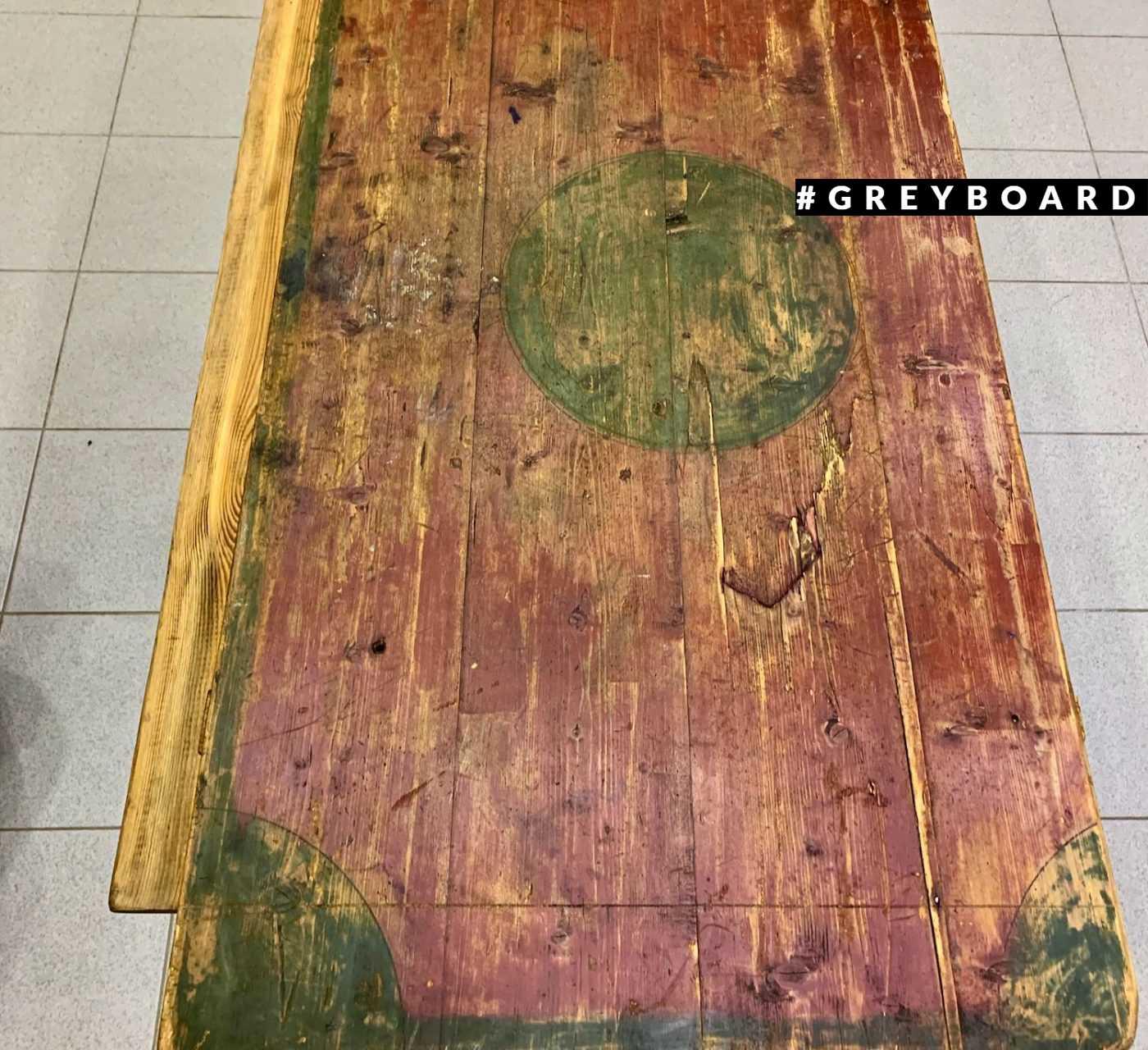 Старая столешница с росписью