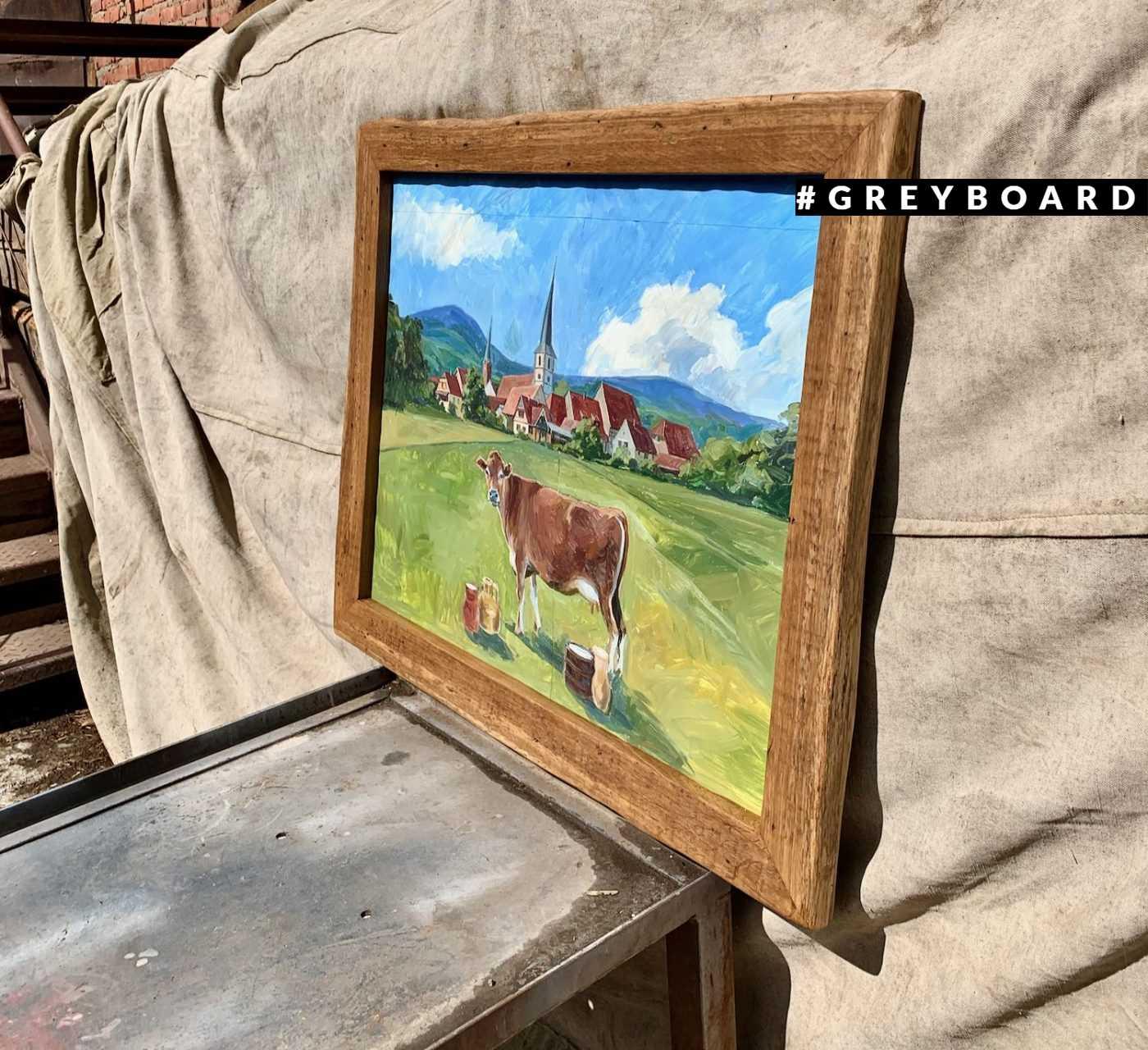 Рамка для картин из старой доски