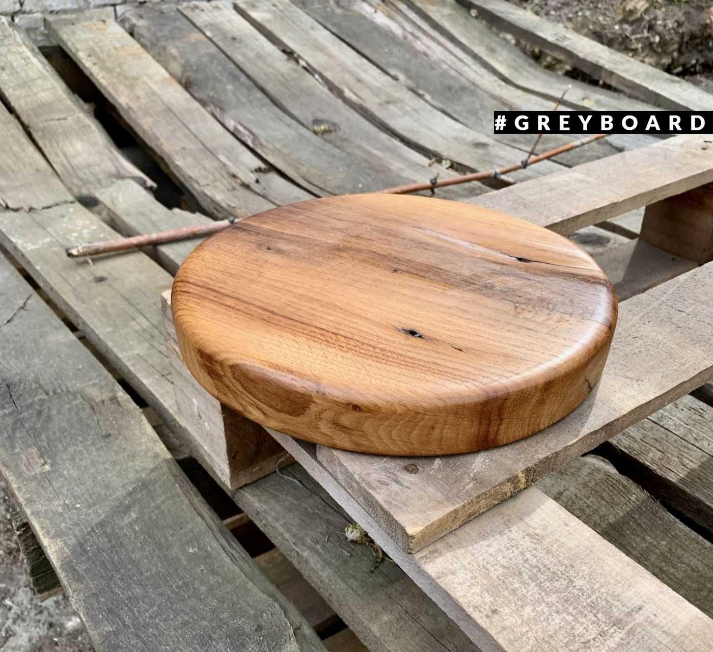 Круглая дубовая сидушка для барного стула