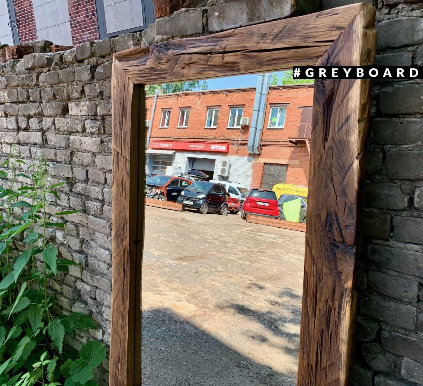 Ростовое зеркало в дубовой раме