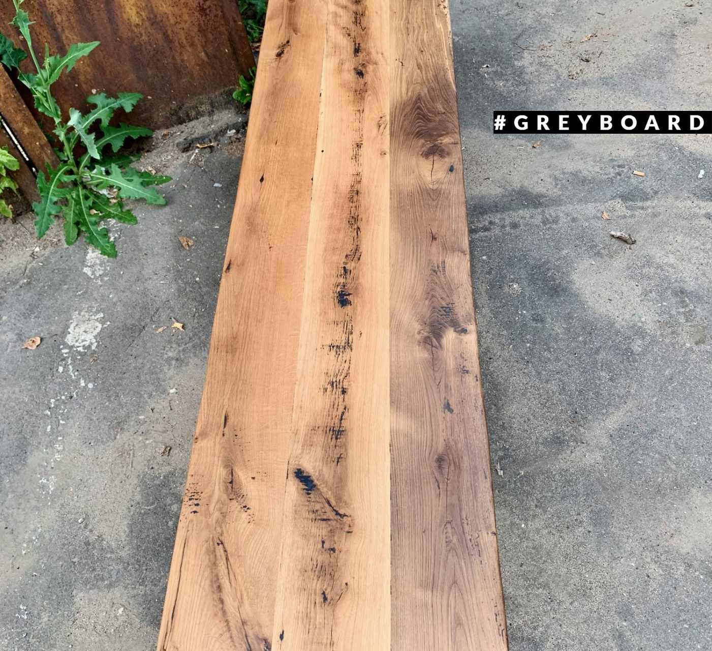 Индустриальная столешница из старой дубовой доски