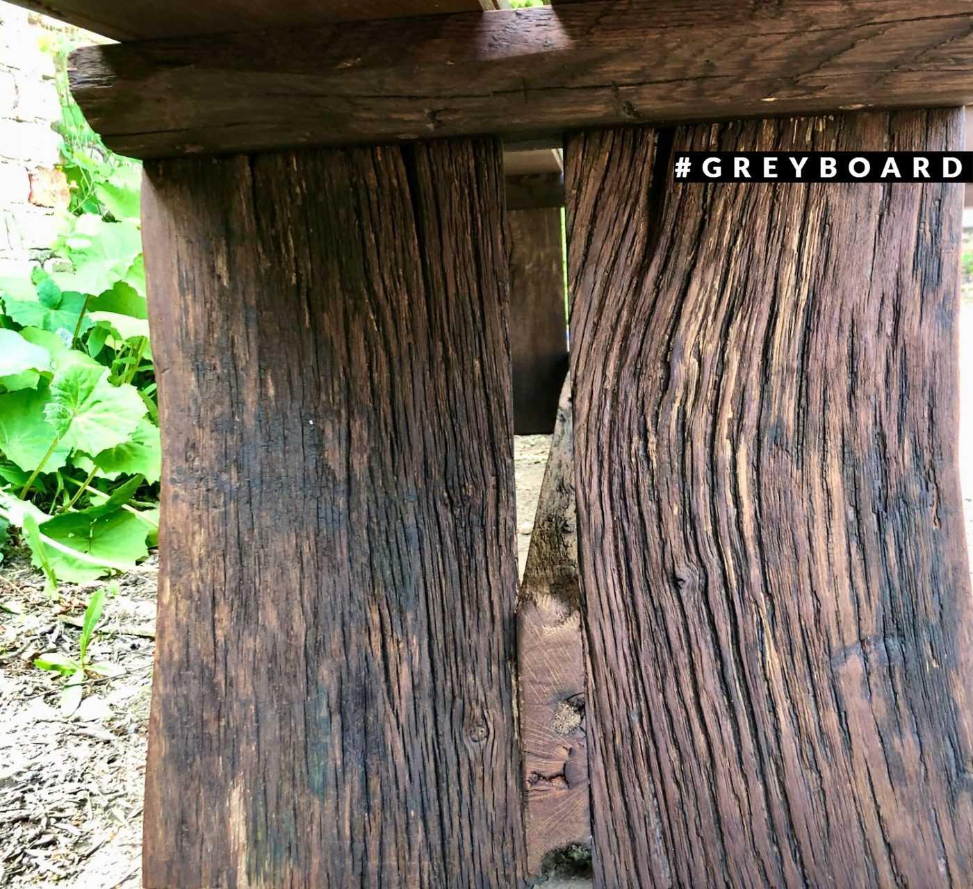 Стильная лавка из старой доски