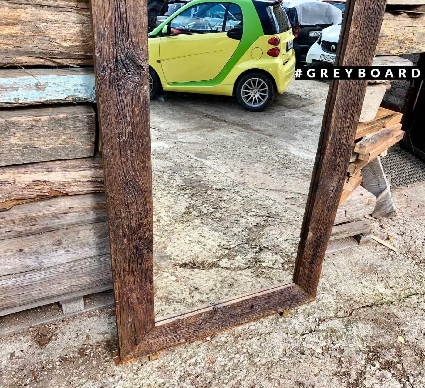 Ростовое зеркало из старой дубовой доски