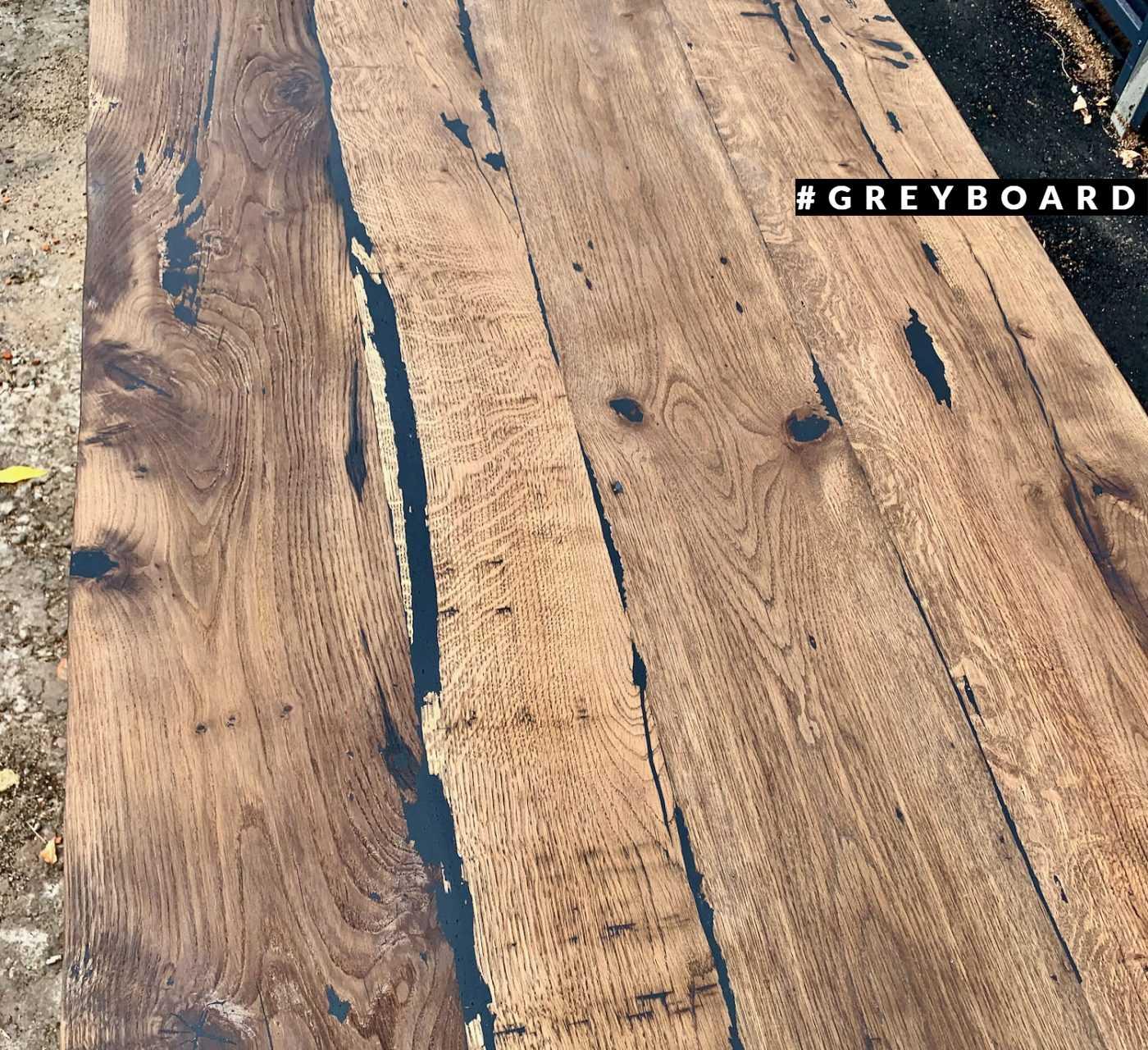 Лофтовая столешница из старой дубовой доски