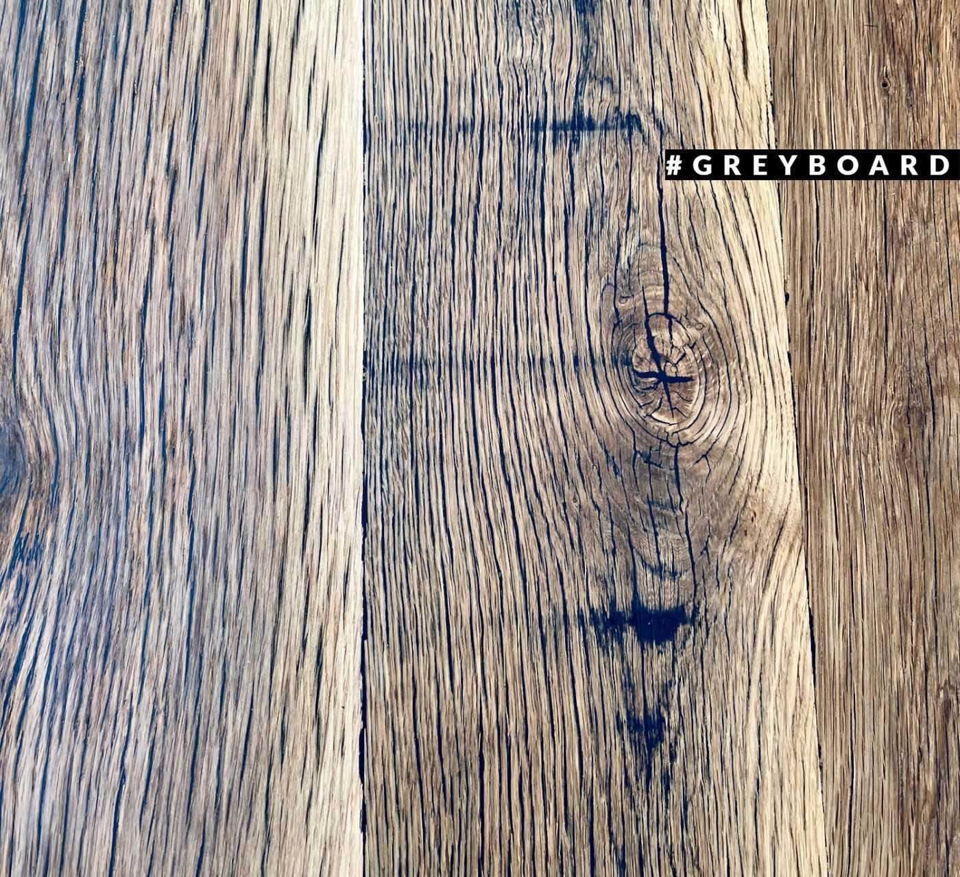 Удлиненная столешница из старой дубовой доски