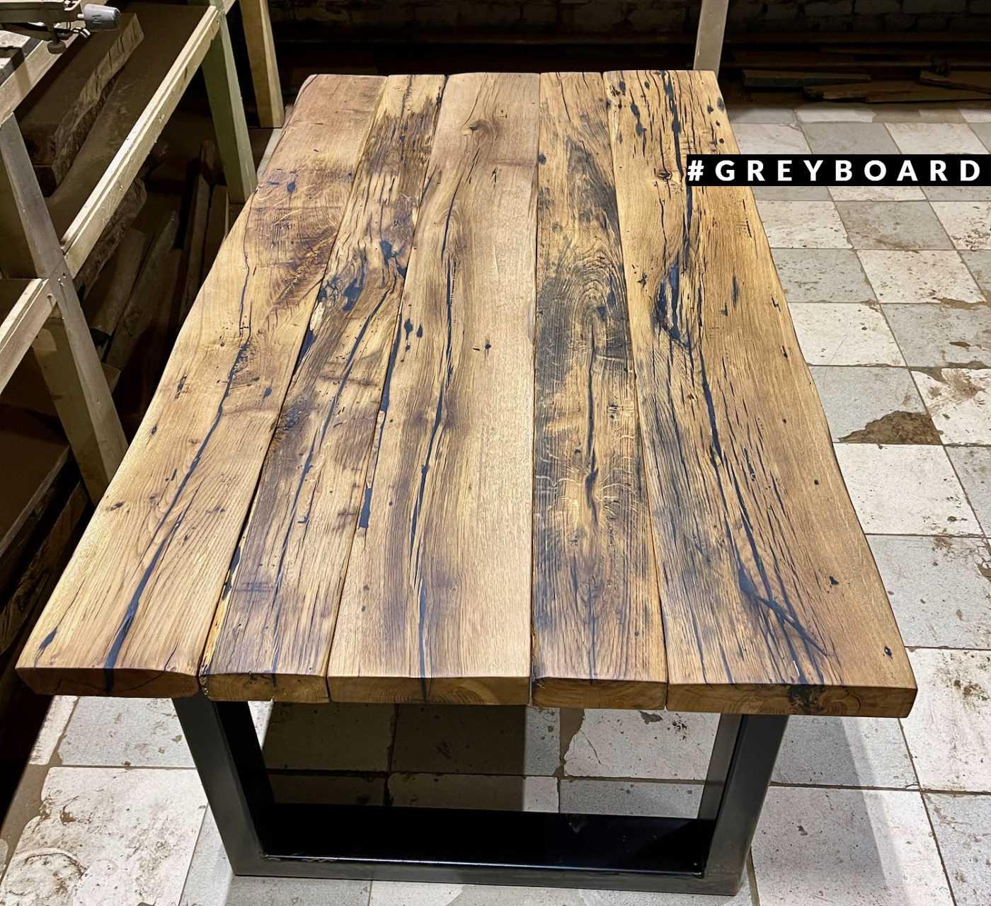 Роскошный дубовый стол в стиле лофт
