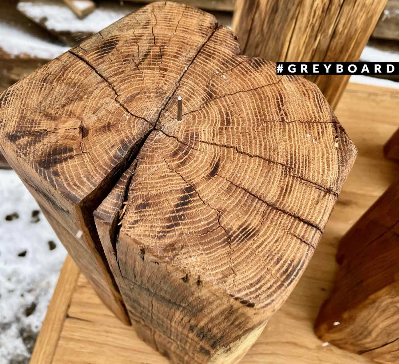 Пеньки-подсвечники из амабрной балки