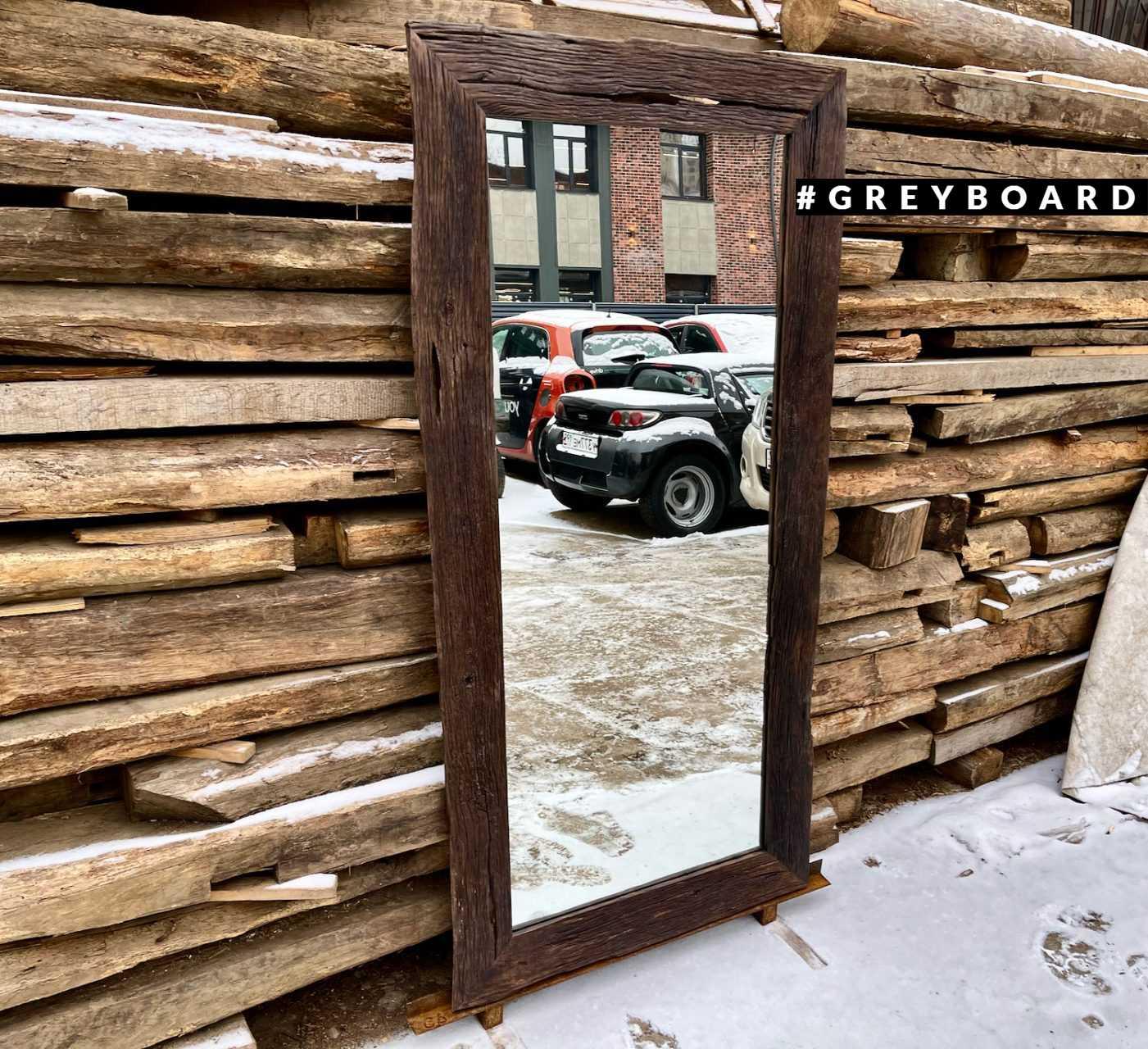 Зеркало в массивной дубовой раме