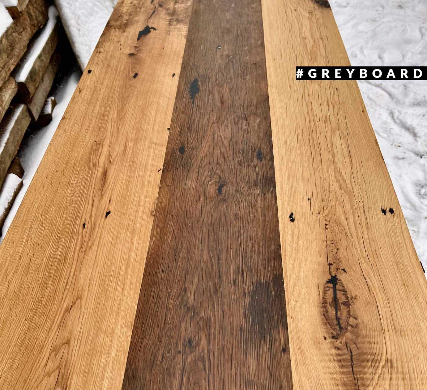 Длинная дубовая столешница в стиле лофт