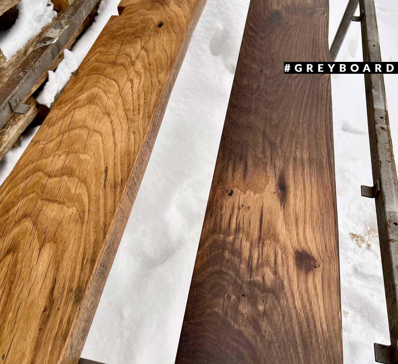 Деревянная полка в индустриальном стиле
