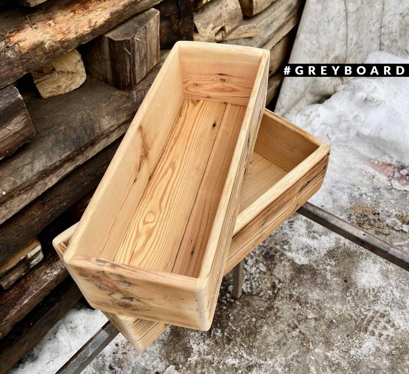 Стильные ящики из амбарной доски