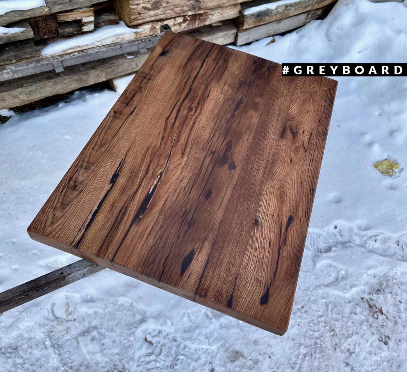 Темно-коричневая дубовая столешница в стиле лофт