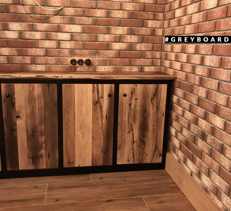 Кухгя из амбарной доски в стиле лофт