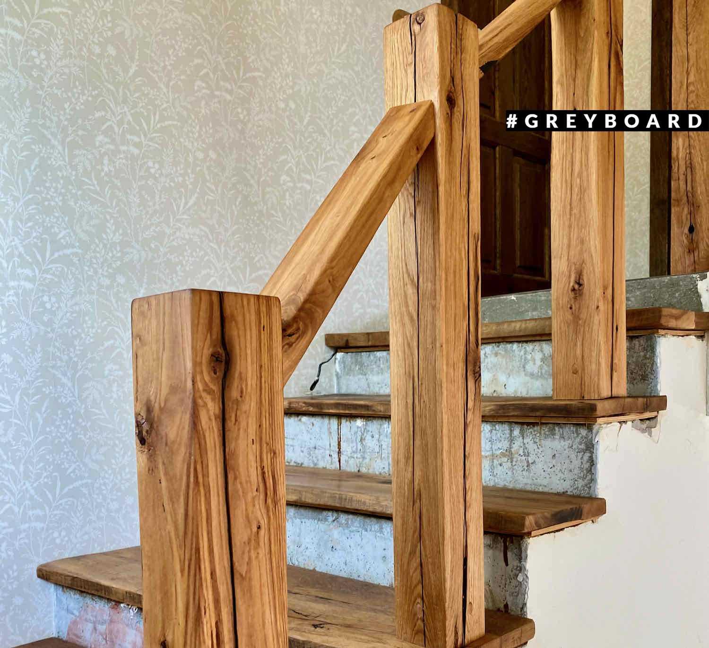 Лестница из старой дубовой доски