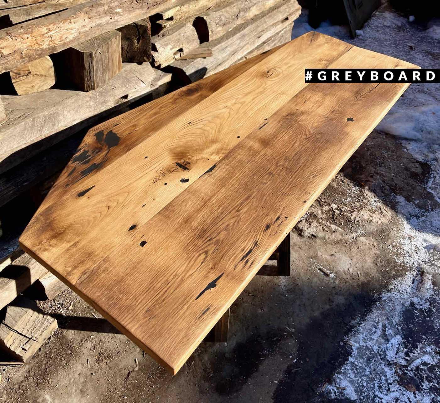 Столешница из старой доси для камина