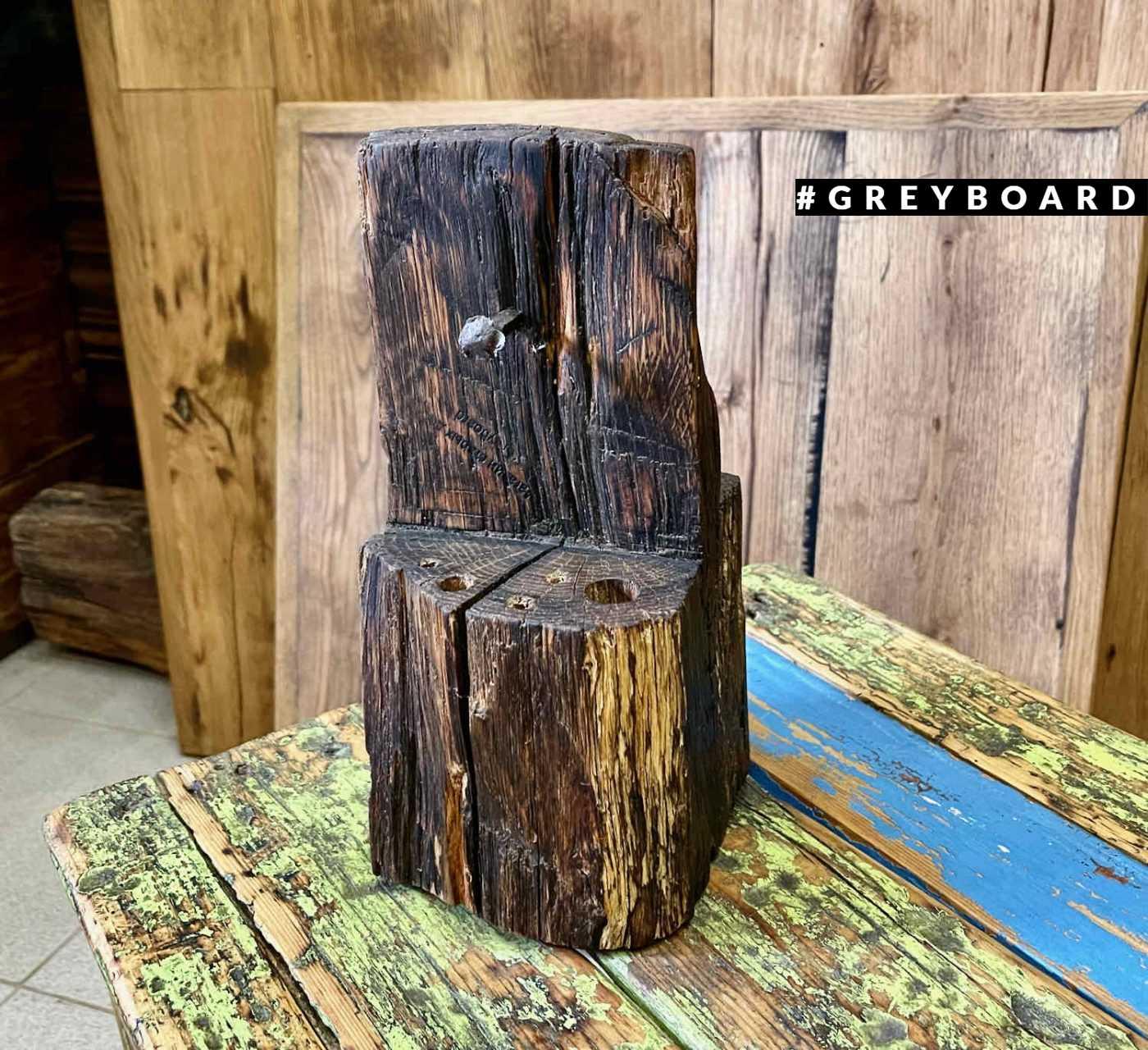 Карандашница из старой дубовой балки