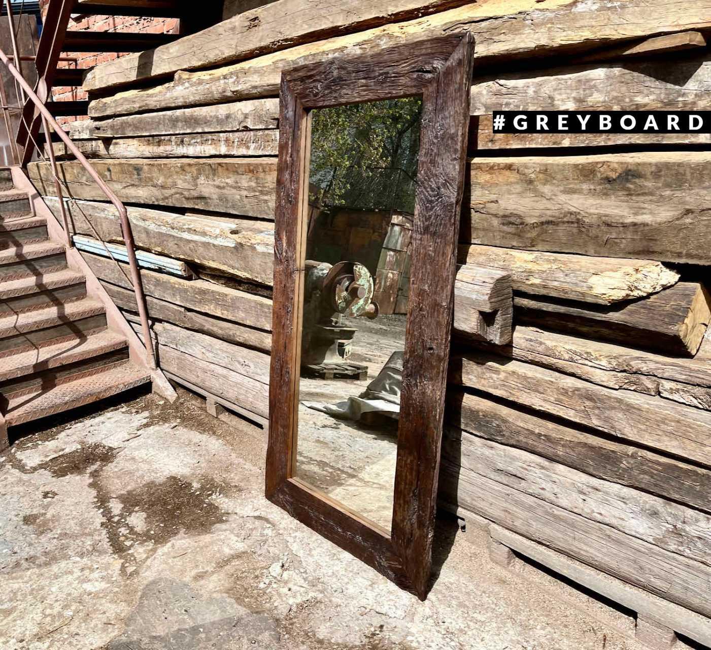 Шикарное зеркало из старой дубовой доски
