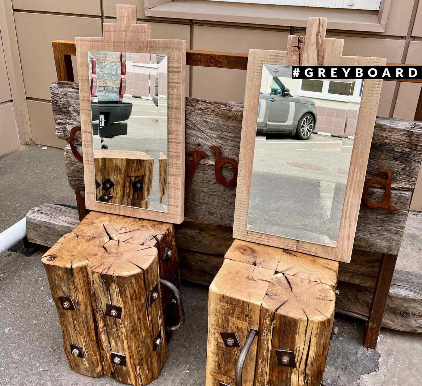 Зеркало из старого бука