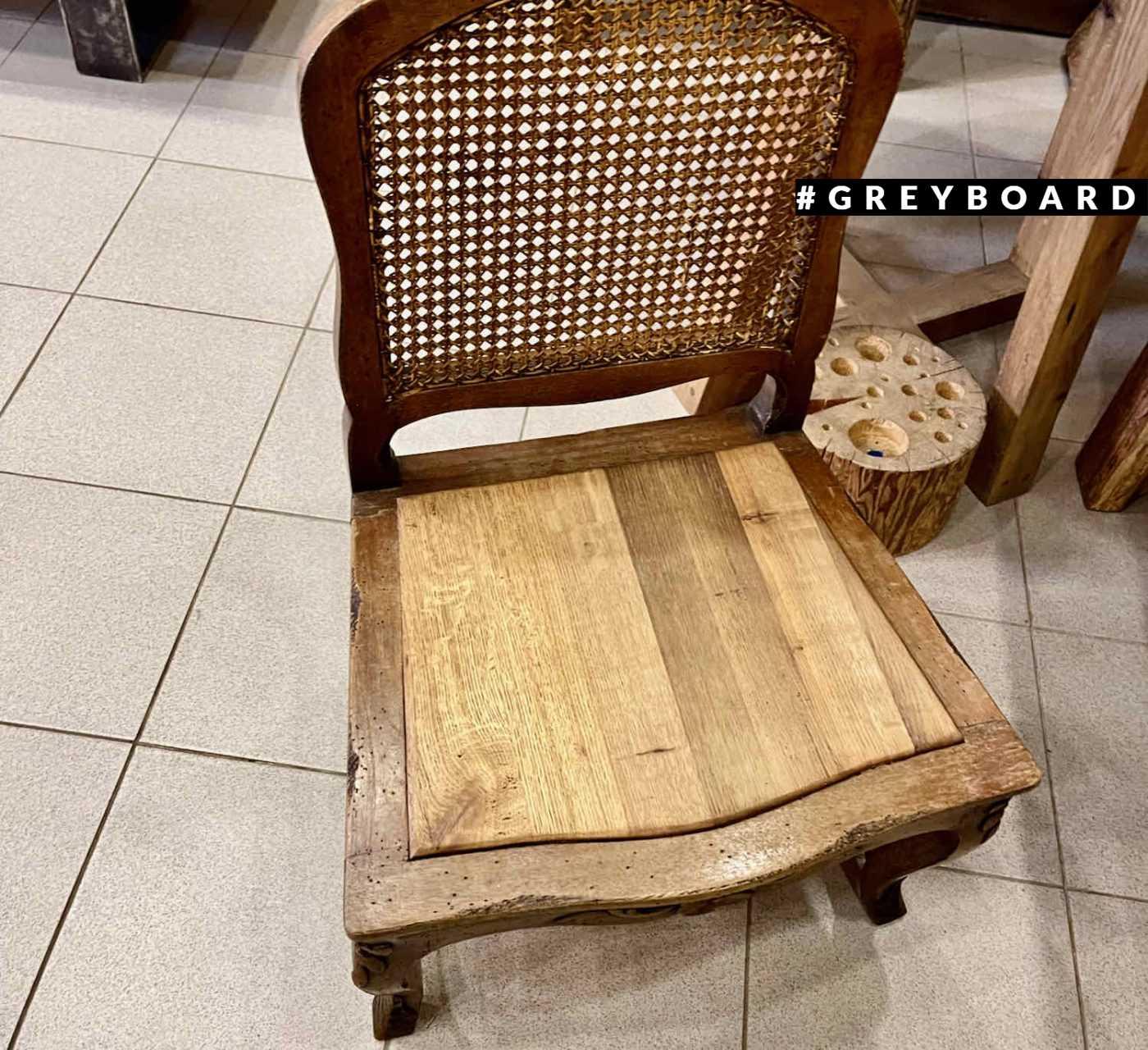 Сидение из амабрной доски для антикварного стула